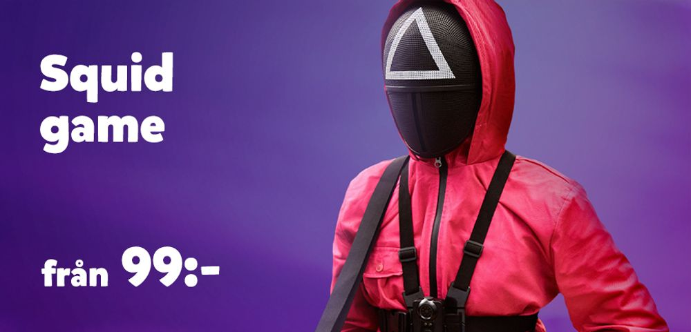 Squid game maskerad kostymer