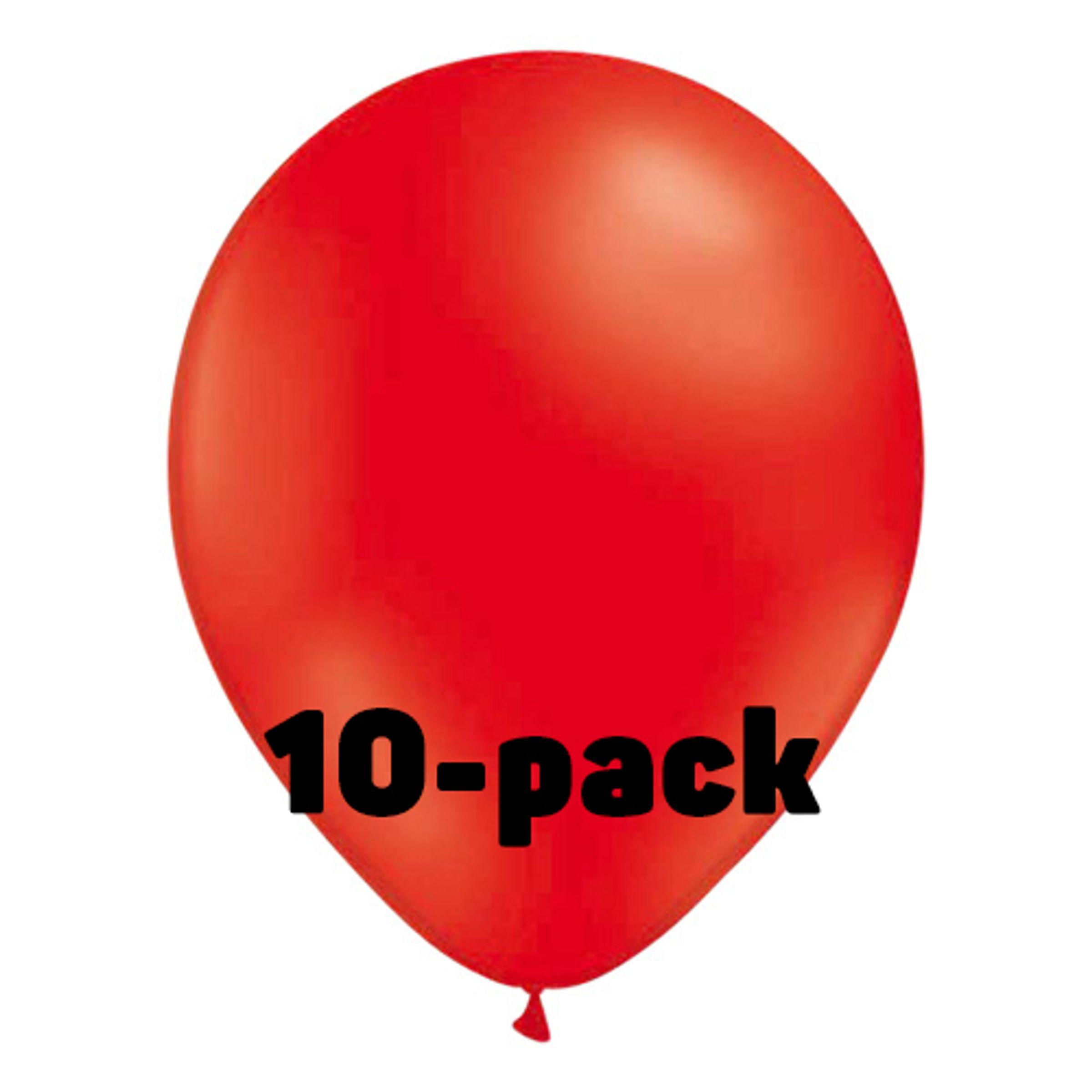Ballonger Röda - 10-pack