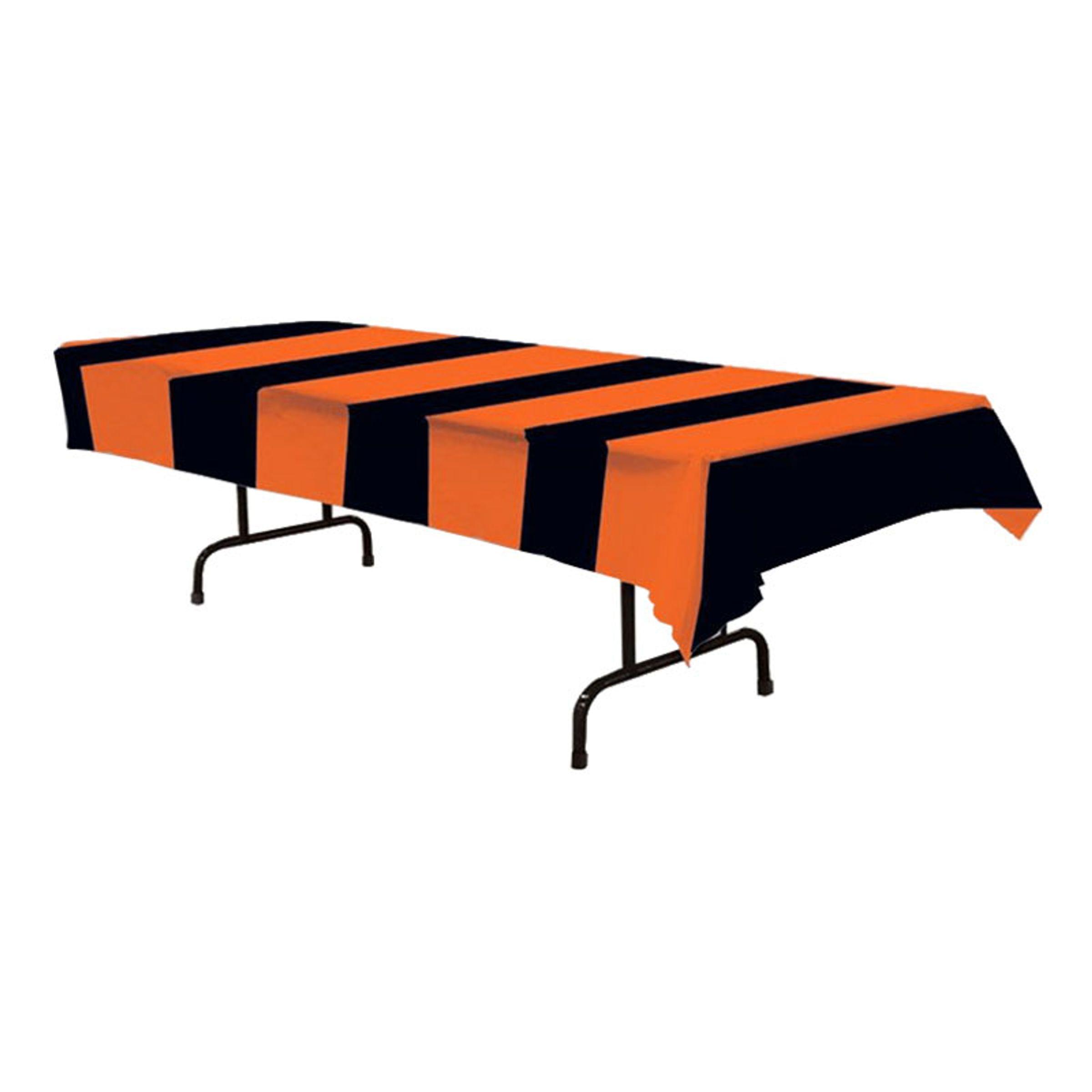 Bordsduk Svart/Orange Randig