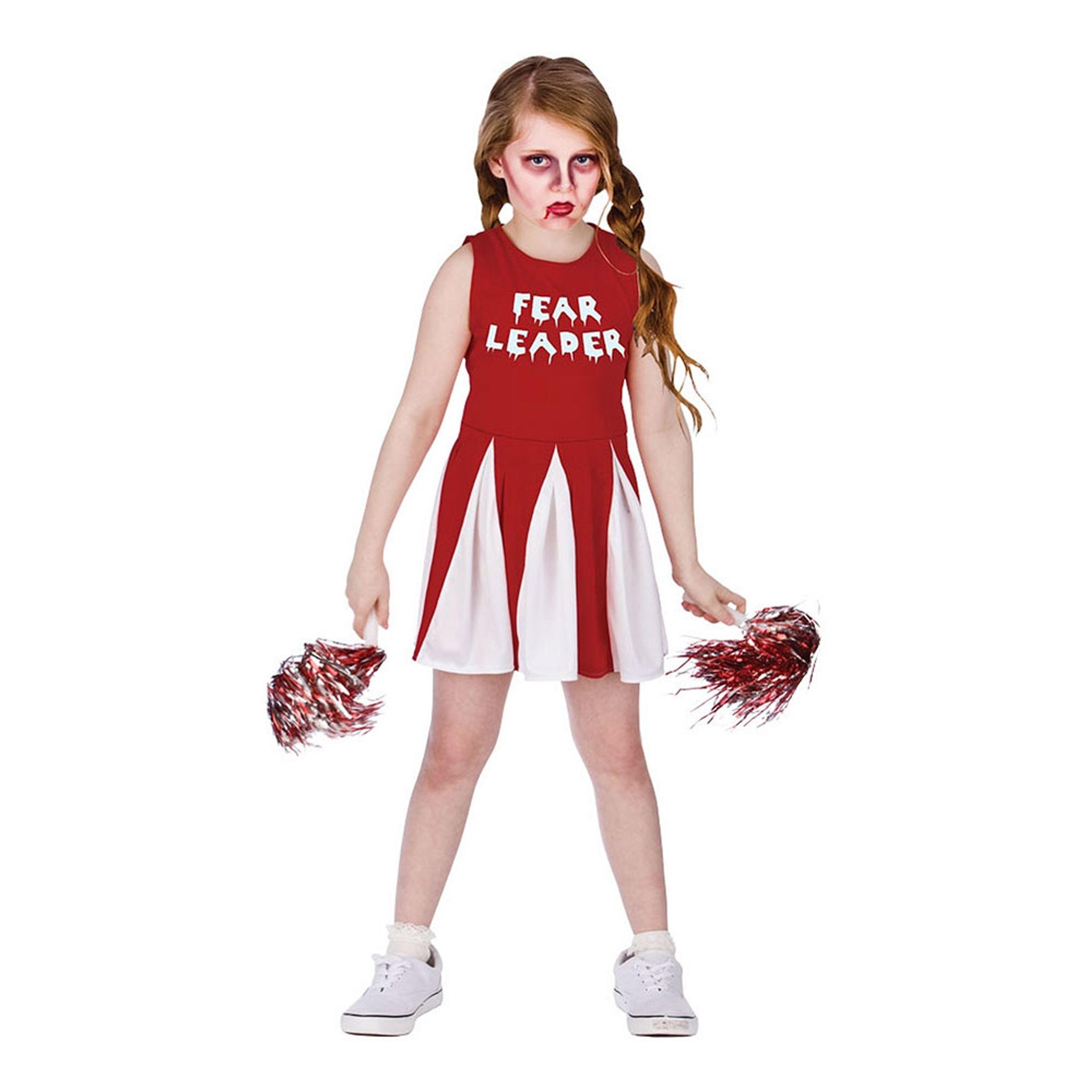 Cheerleader Halloween Barn Maskeraddräkt - Large