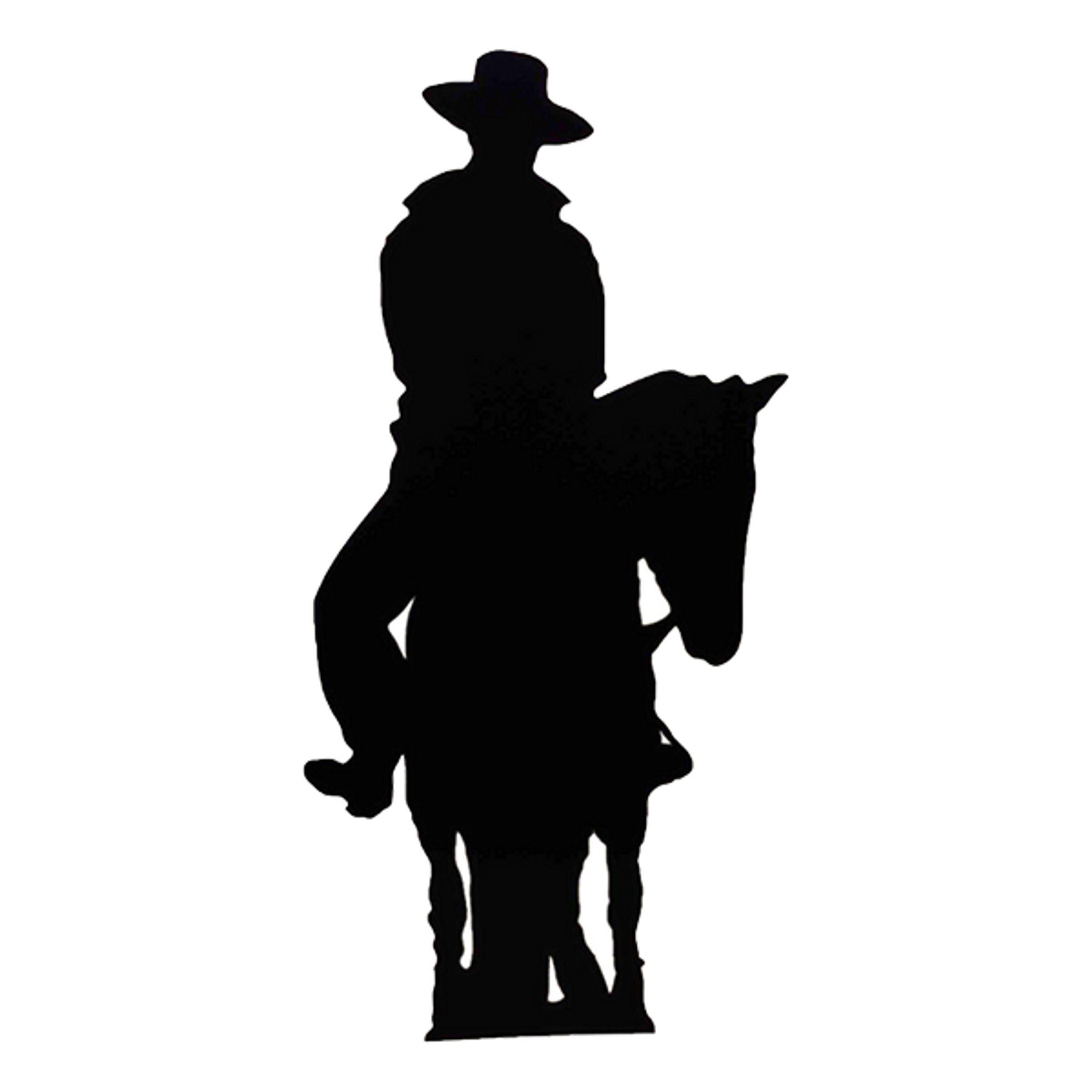 Cowboy på Häst Siluett Kartongfigur