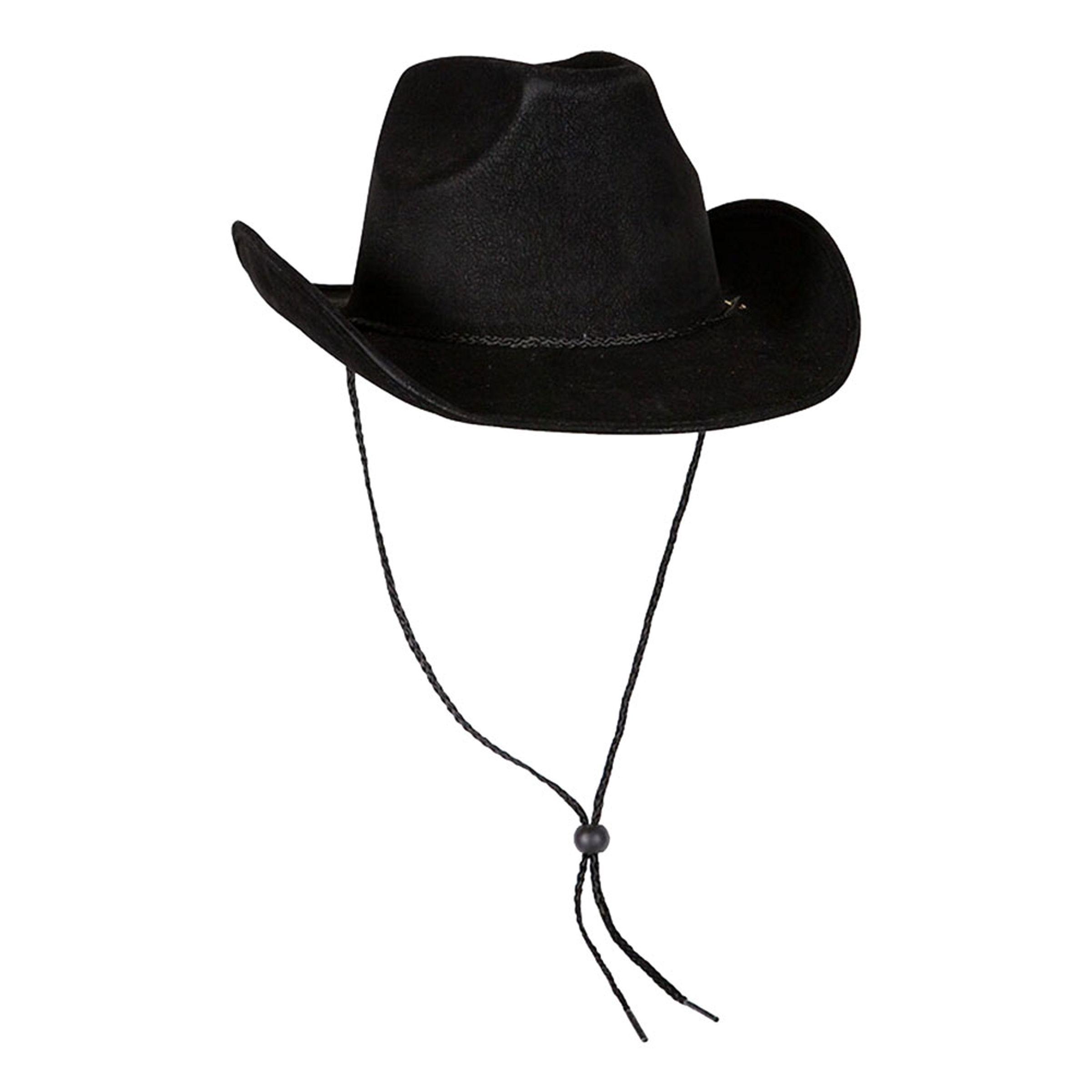 Cowboyhatt Svart Deluxe - One size