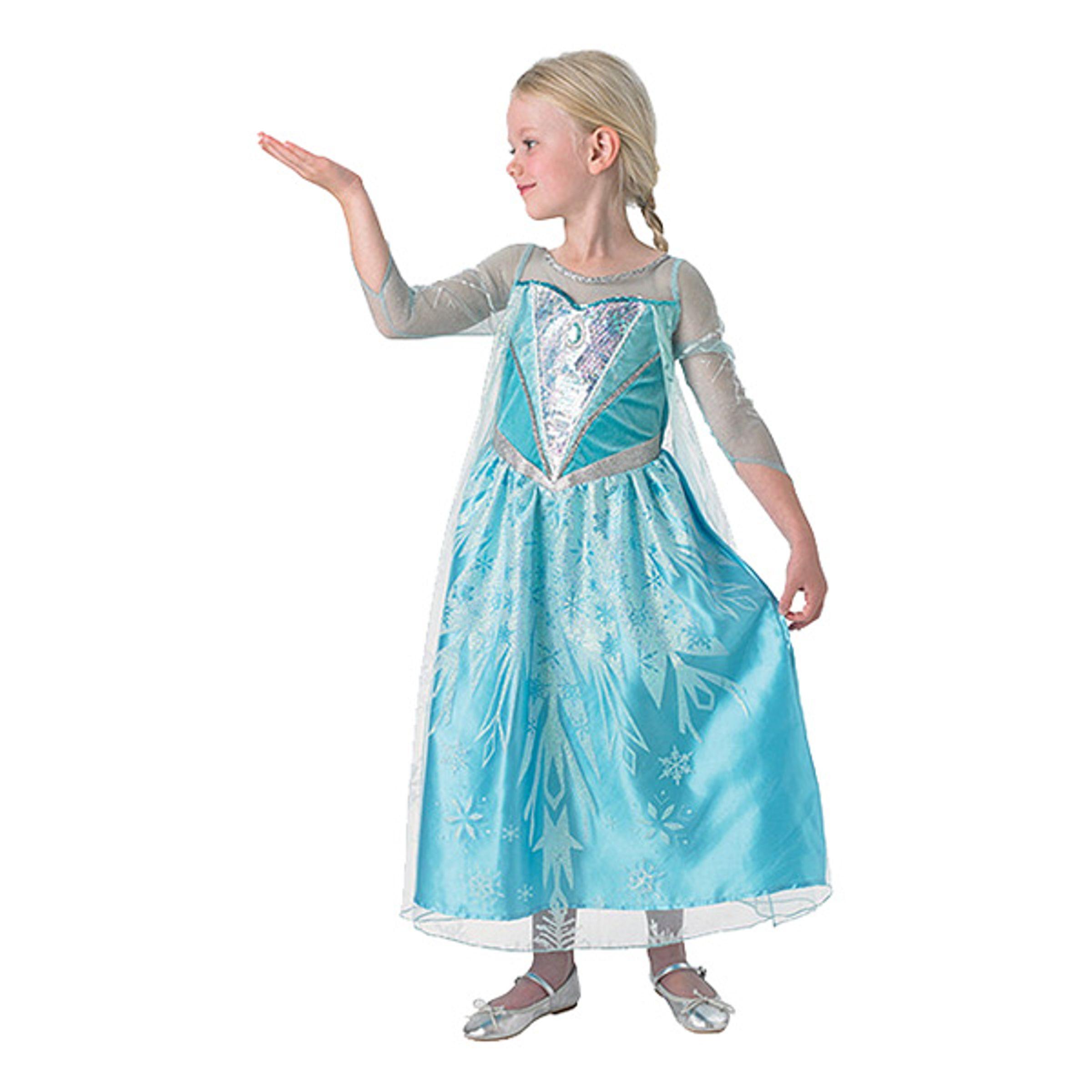 Elsa Deluxe Barn Maskeraddräkt - Medium
