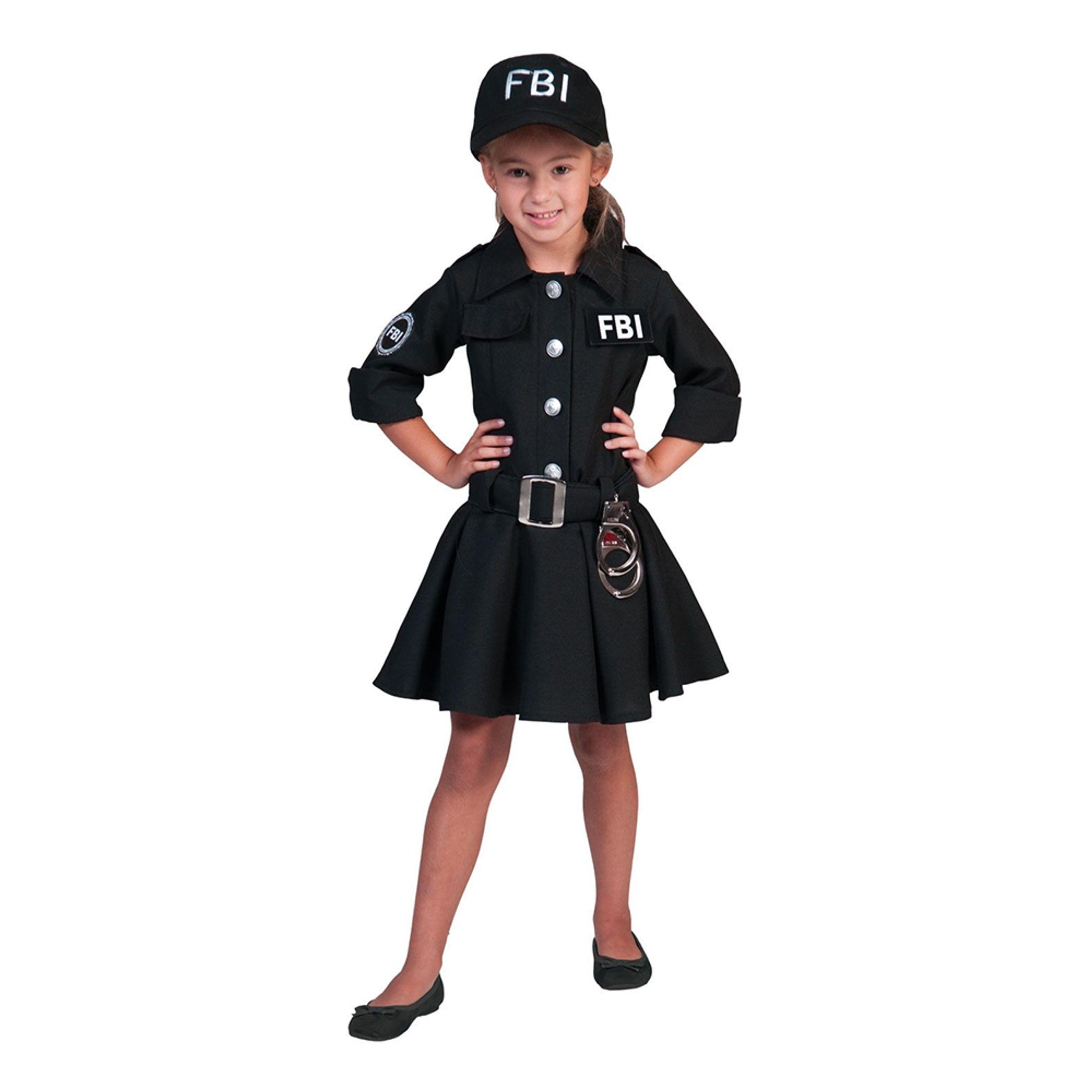 FBI Agent Klänning Barn Maskeraddräkt - X-Large