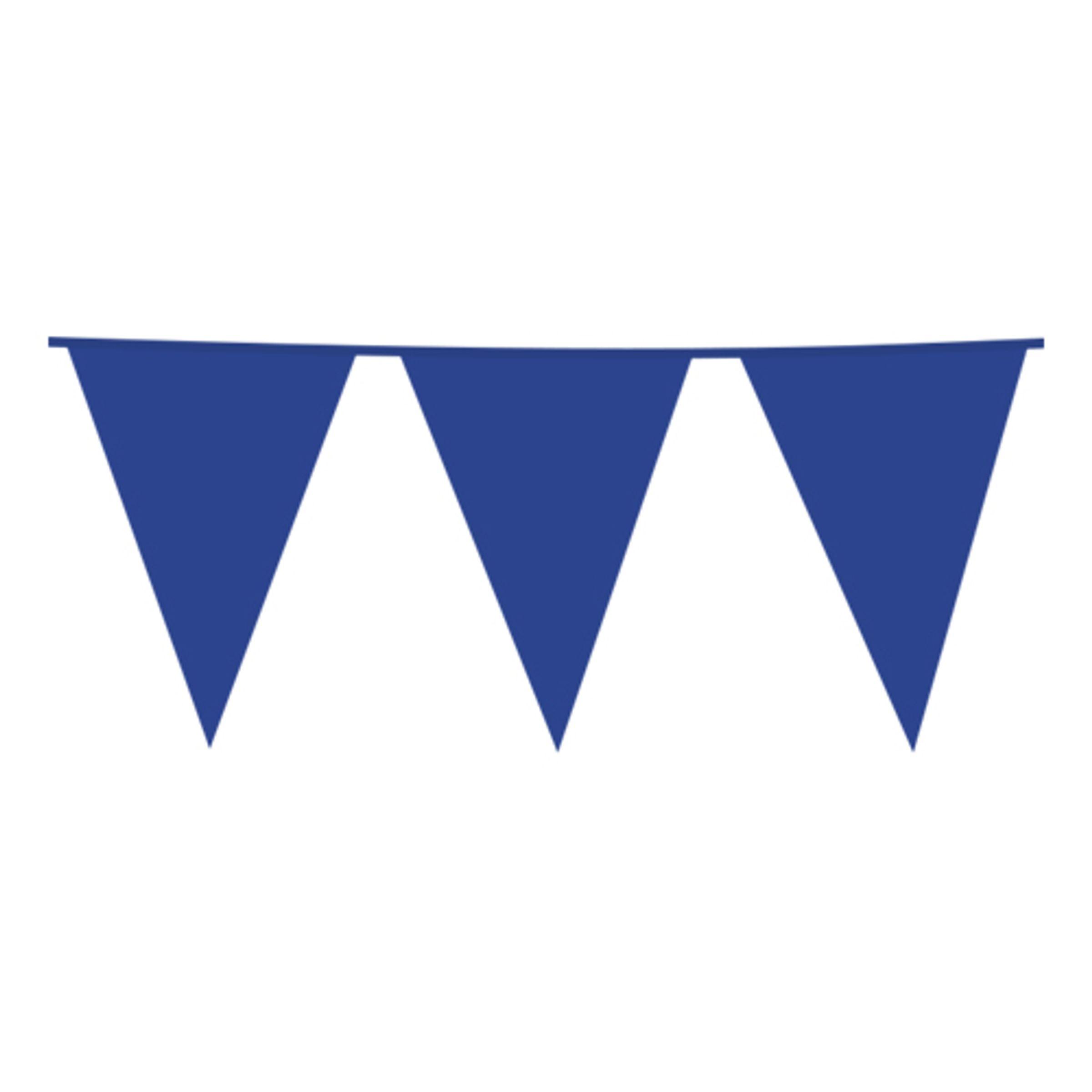 Flaggirlang Blå - 10 meter