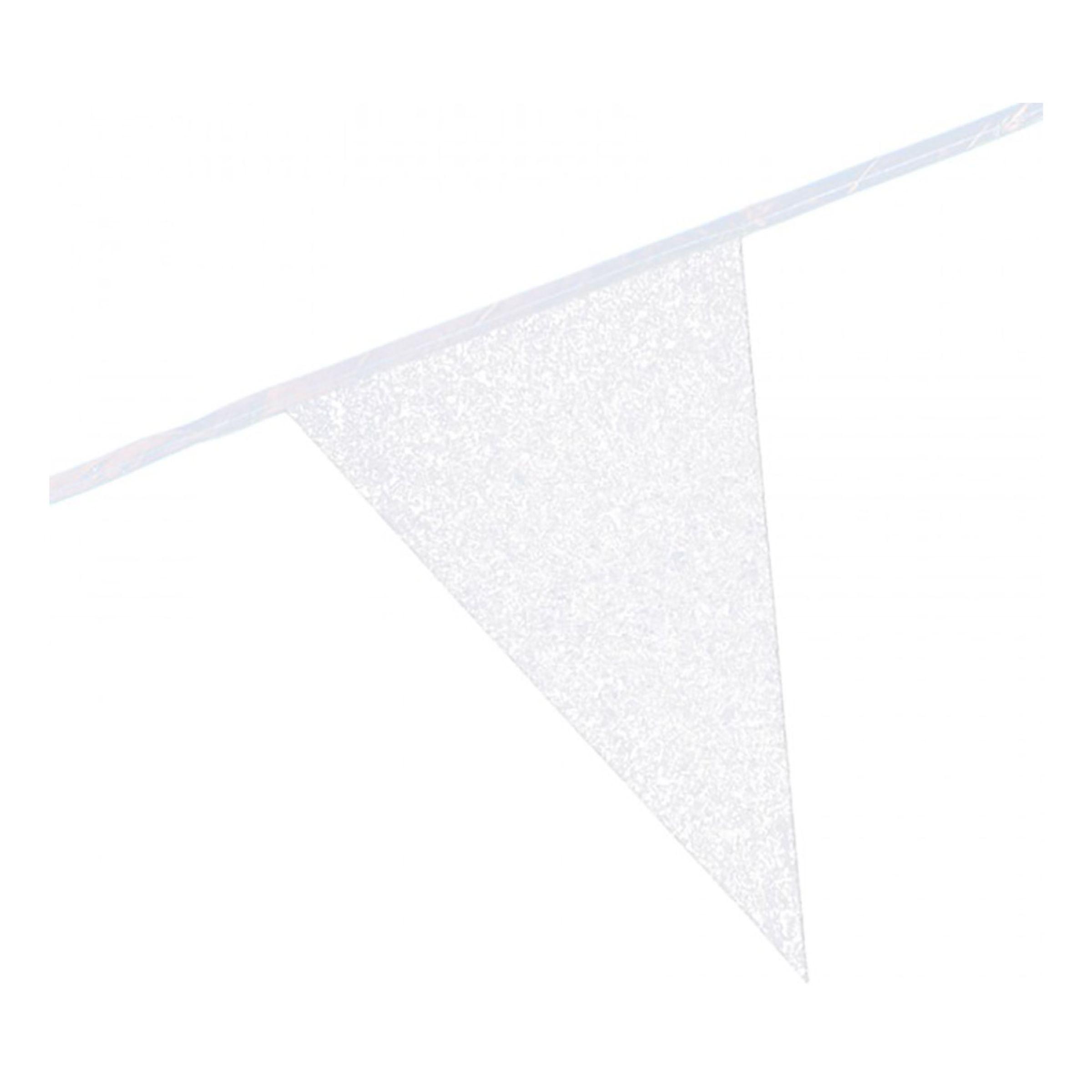 Flaggirlang Glittervit - 600 cm