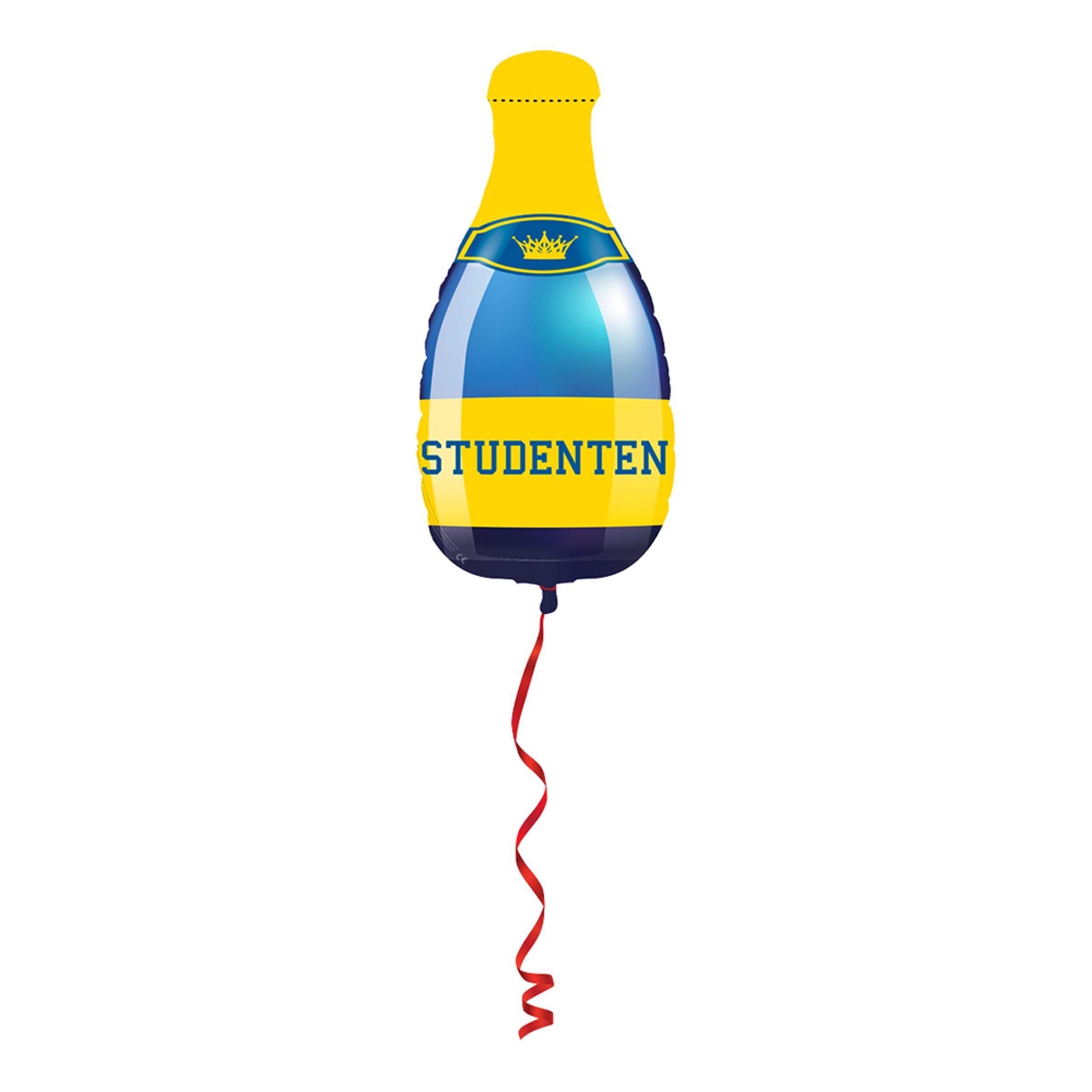 Folieballong Studenten Champagneflaska