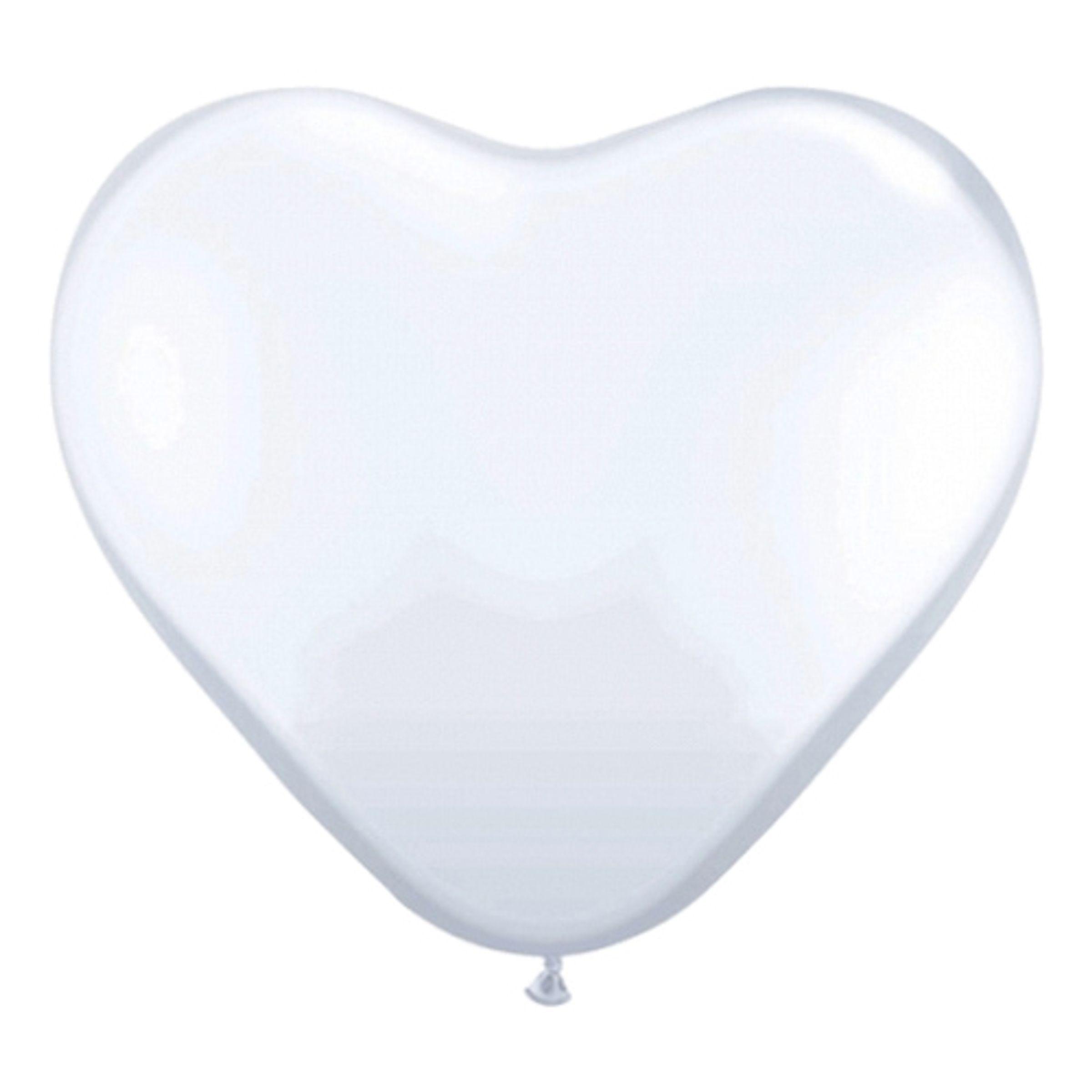 Hjärtballonger Vita - 10-pack