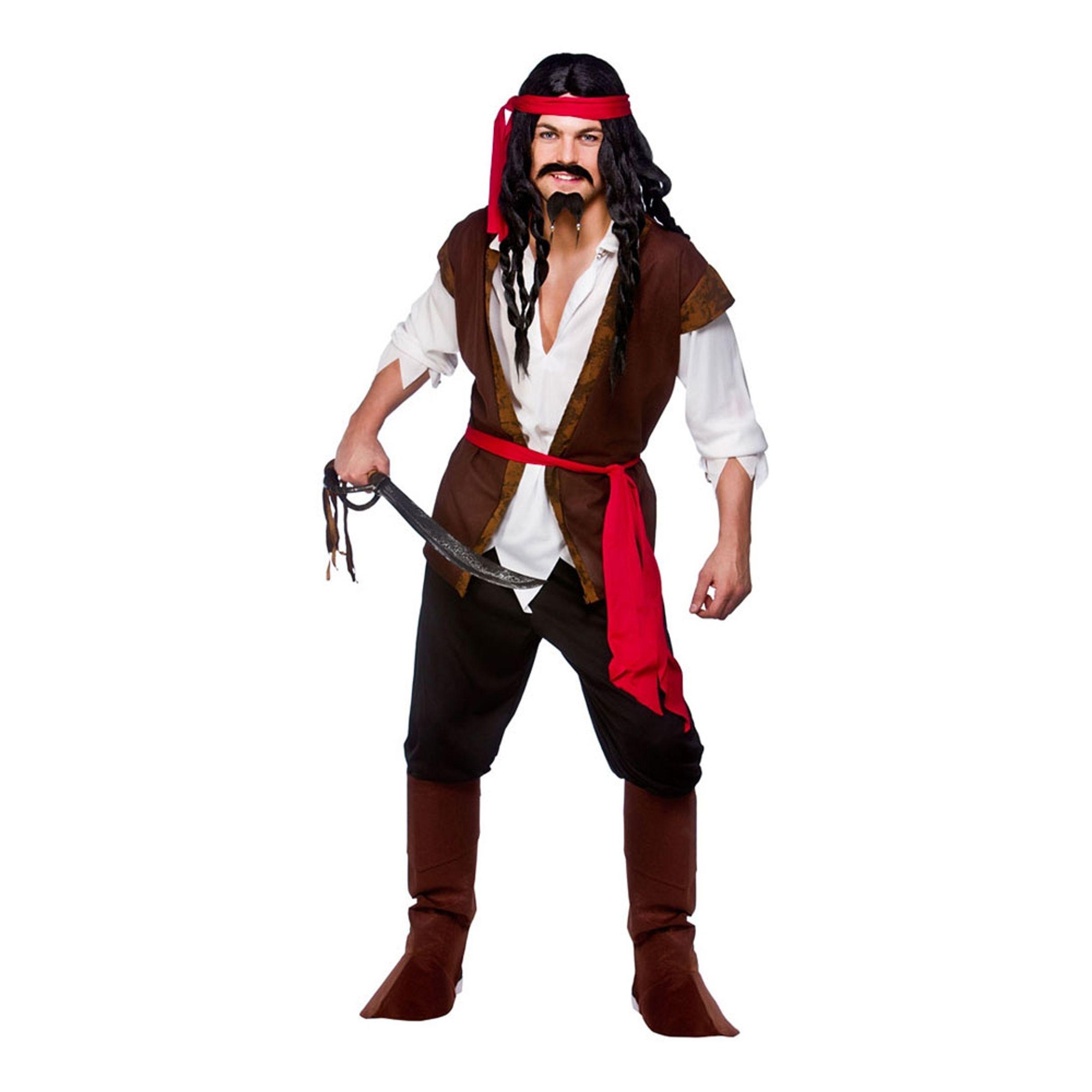 Karibisk Pirat Budget Maskeraddräkt - Large