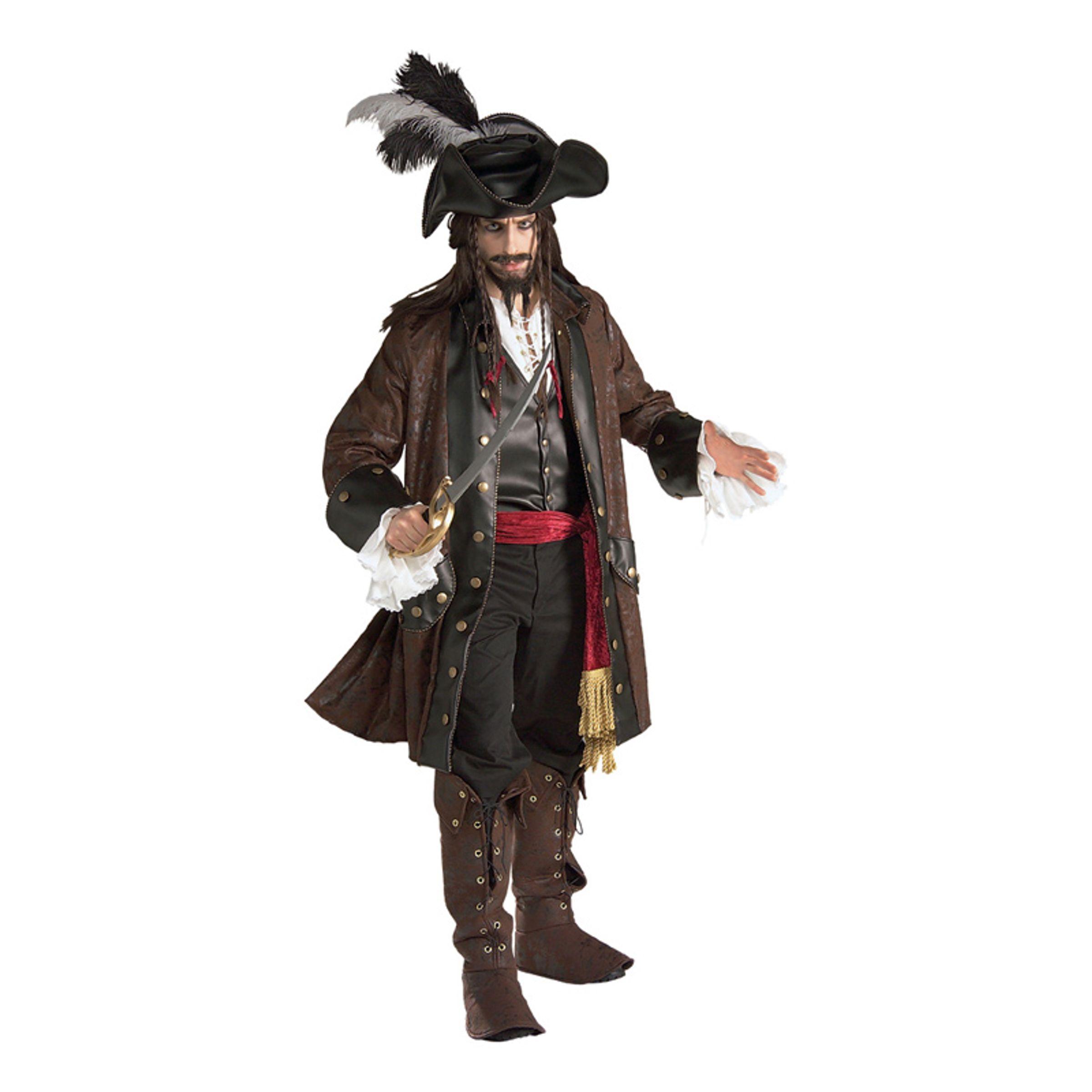 Karibisk Pirat Deluxe Maskeraddräkt - Standard