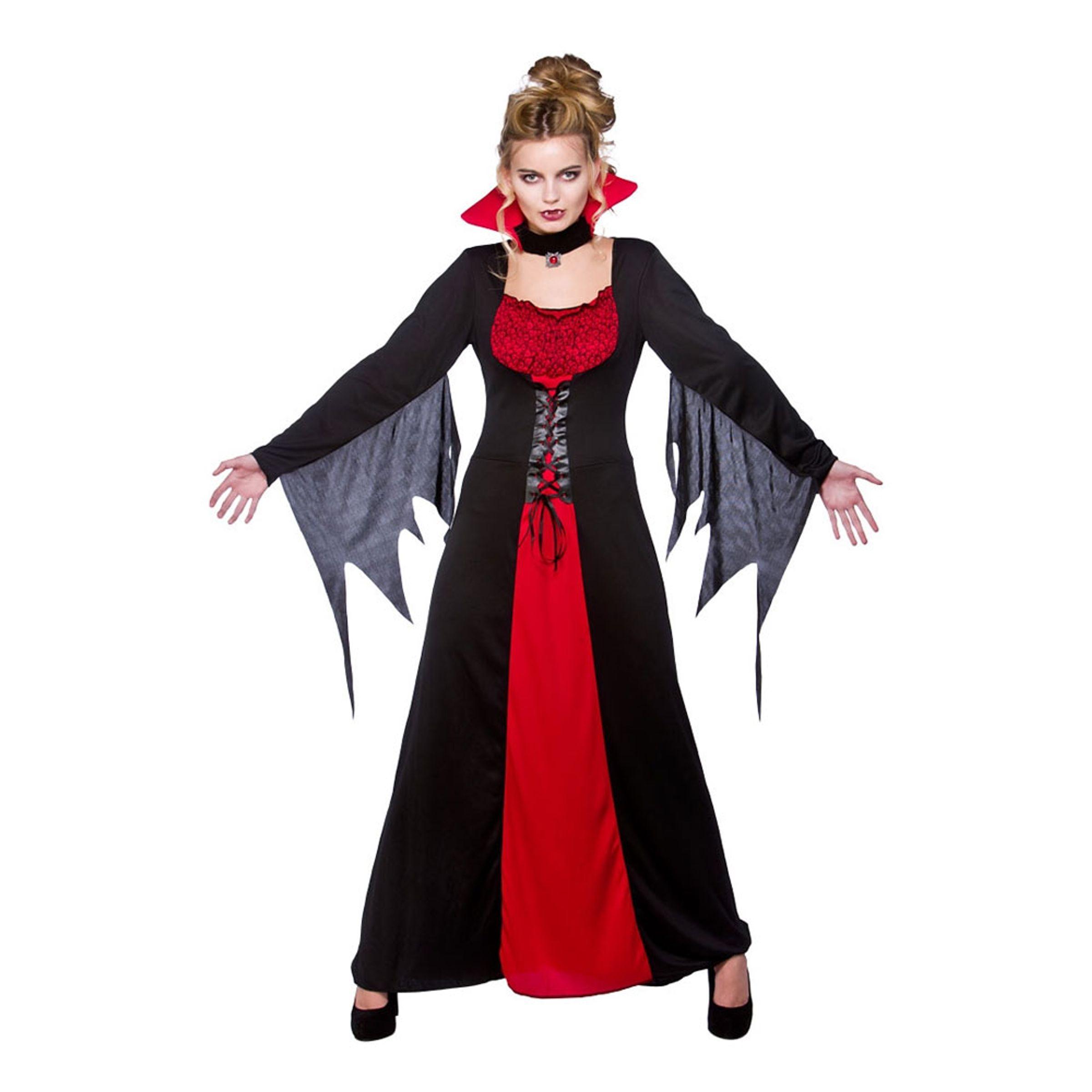 Klassisk Vampyra Maskeraddräkt - Large