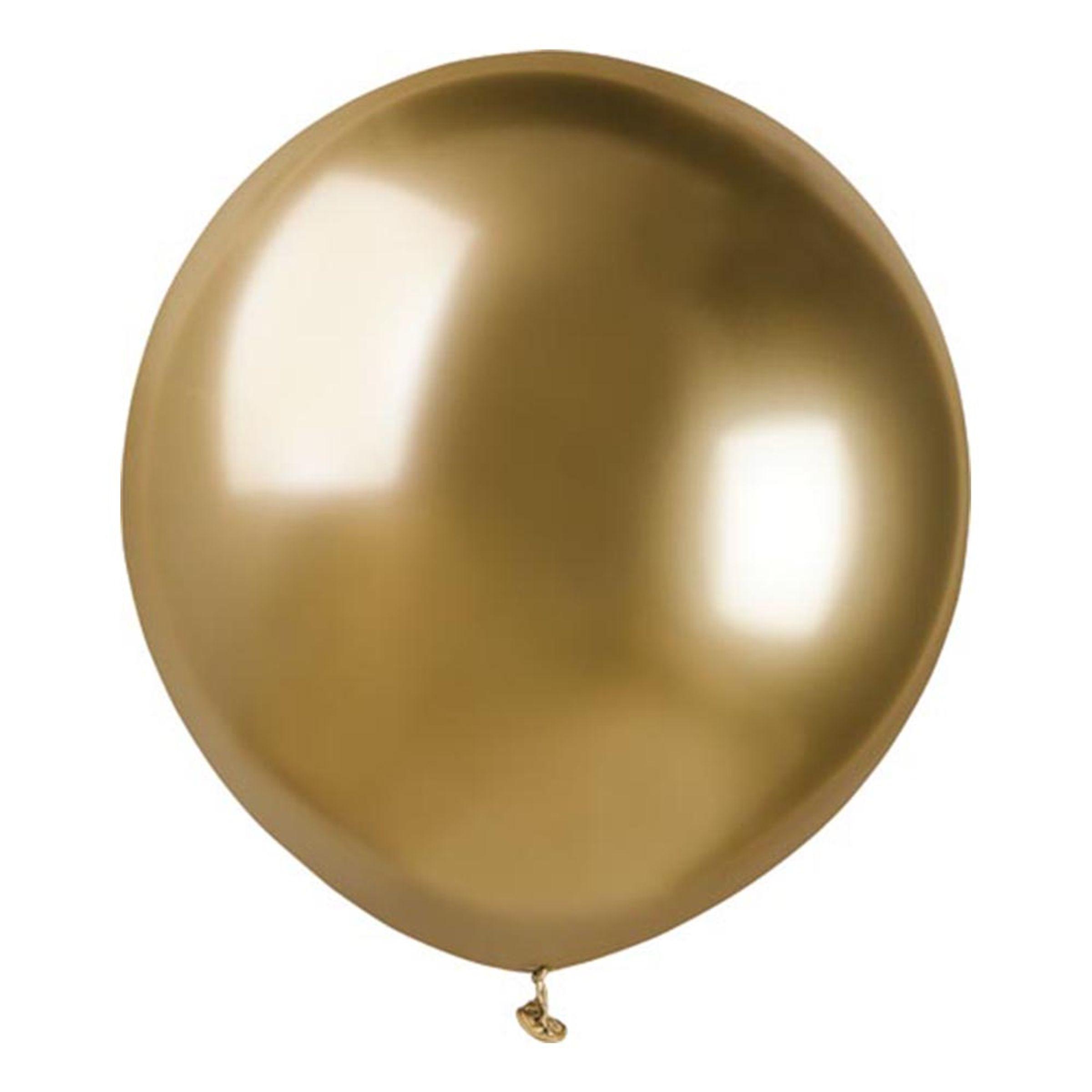 Ballonger Krom Guld Stora - 10-pack