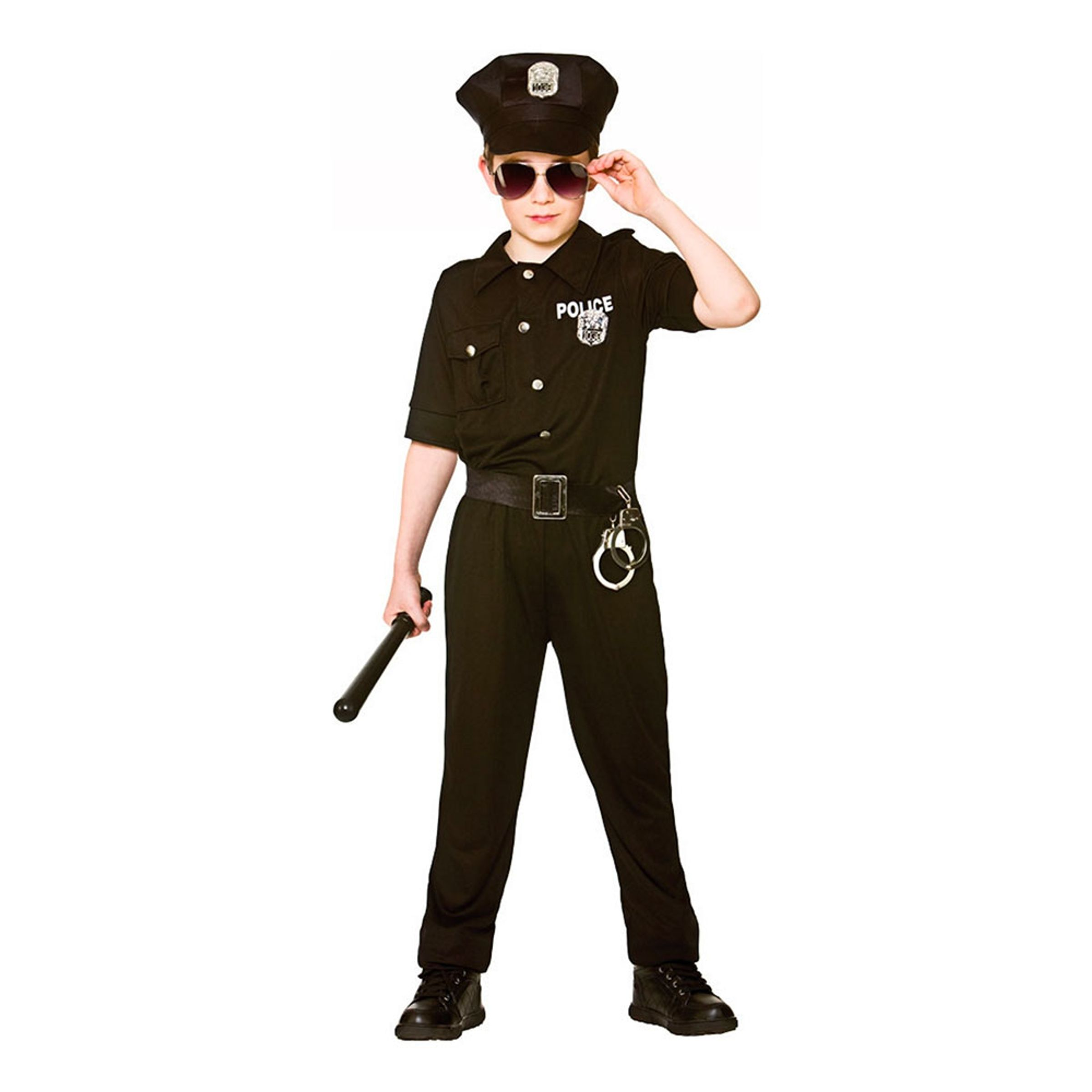 New York Polis Barn Maskeraddräkt - X-Large