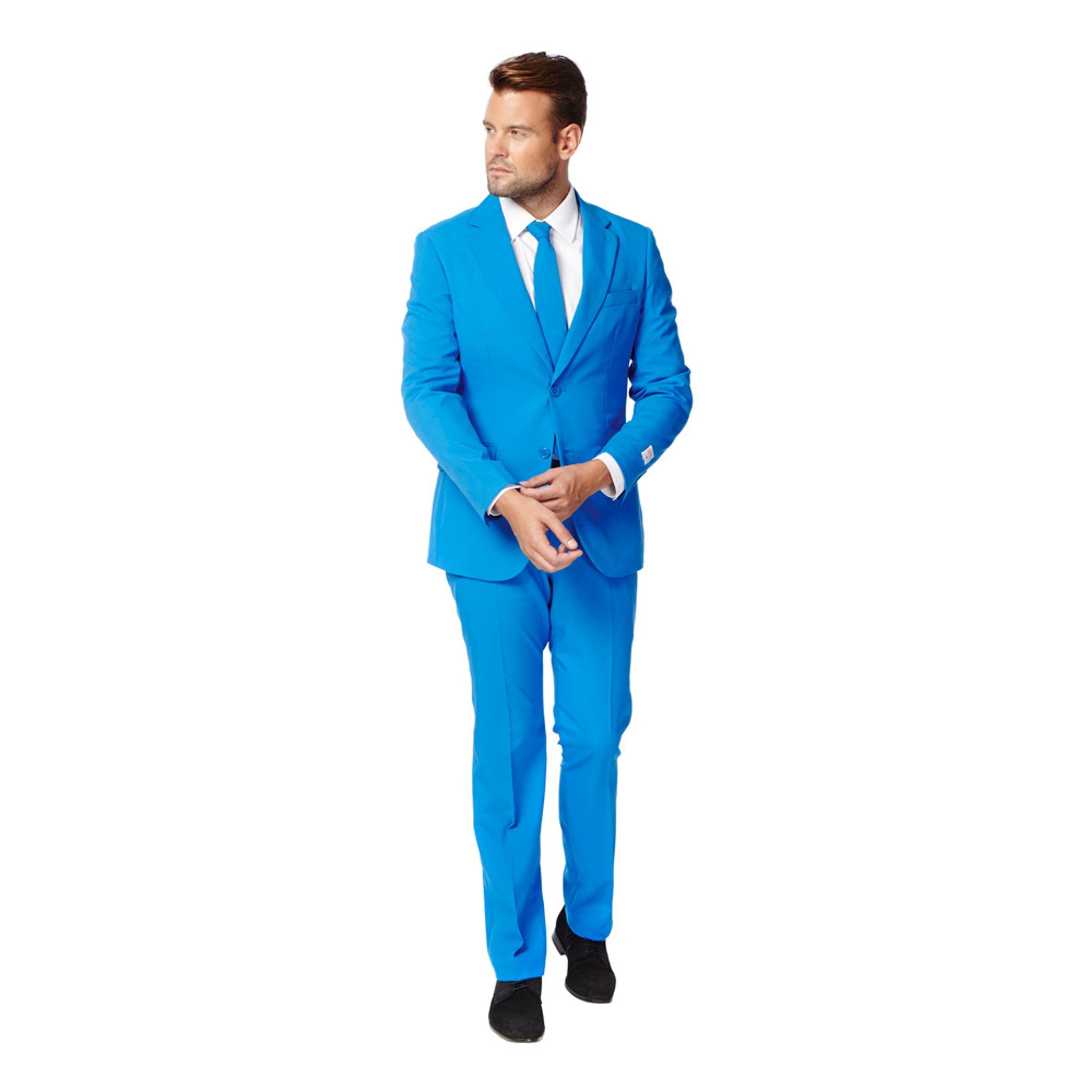 OppoSuits Blue Steel Kostym - 54