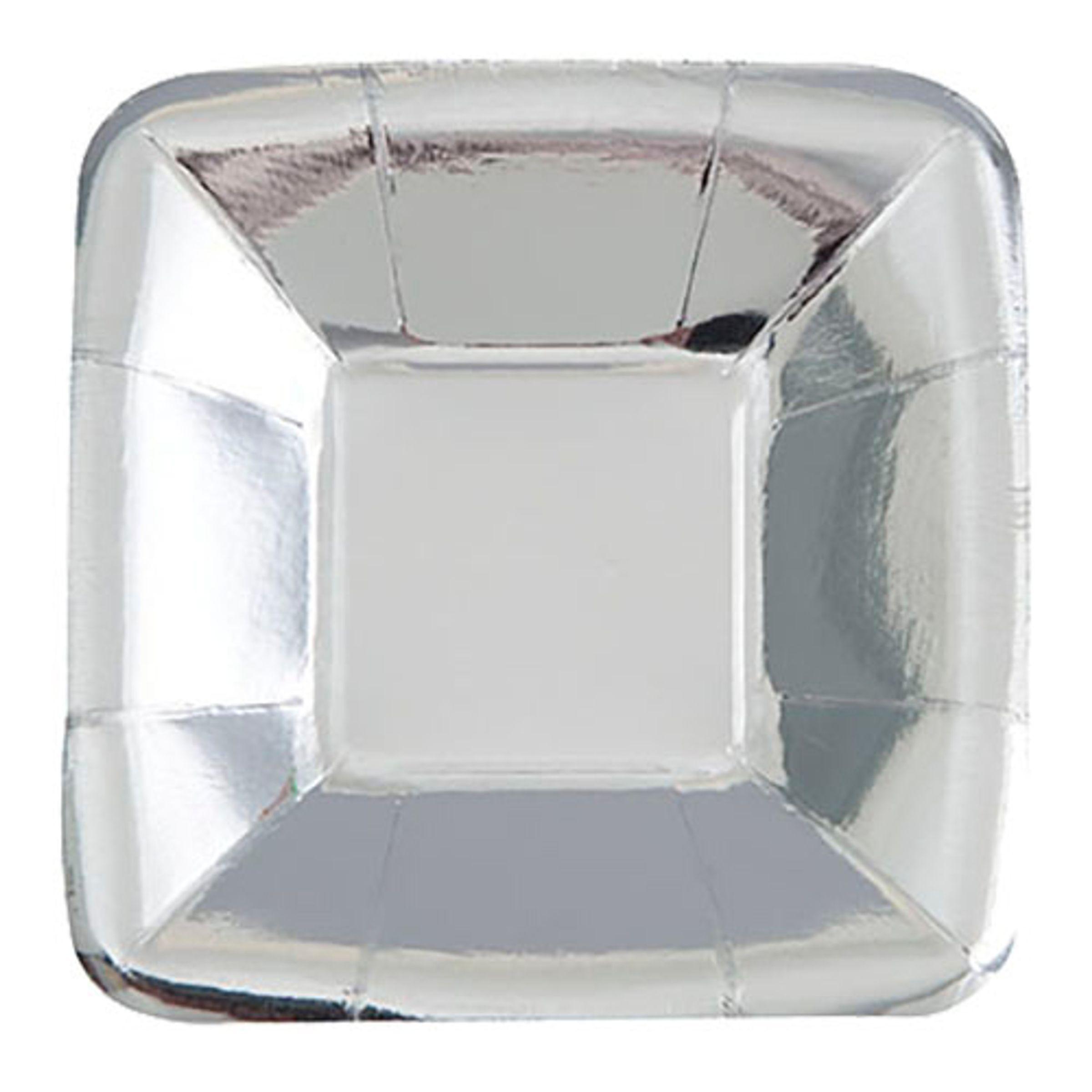 Pappersassietter Små Silver Metallic - 8-pack