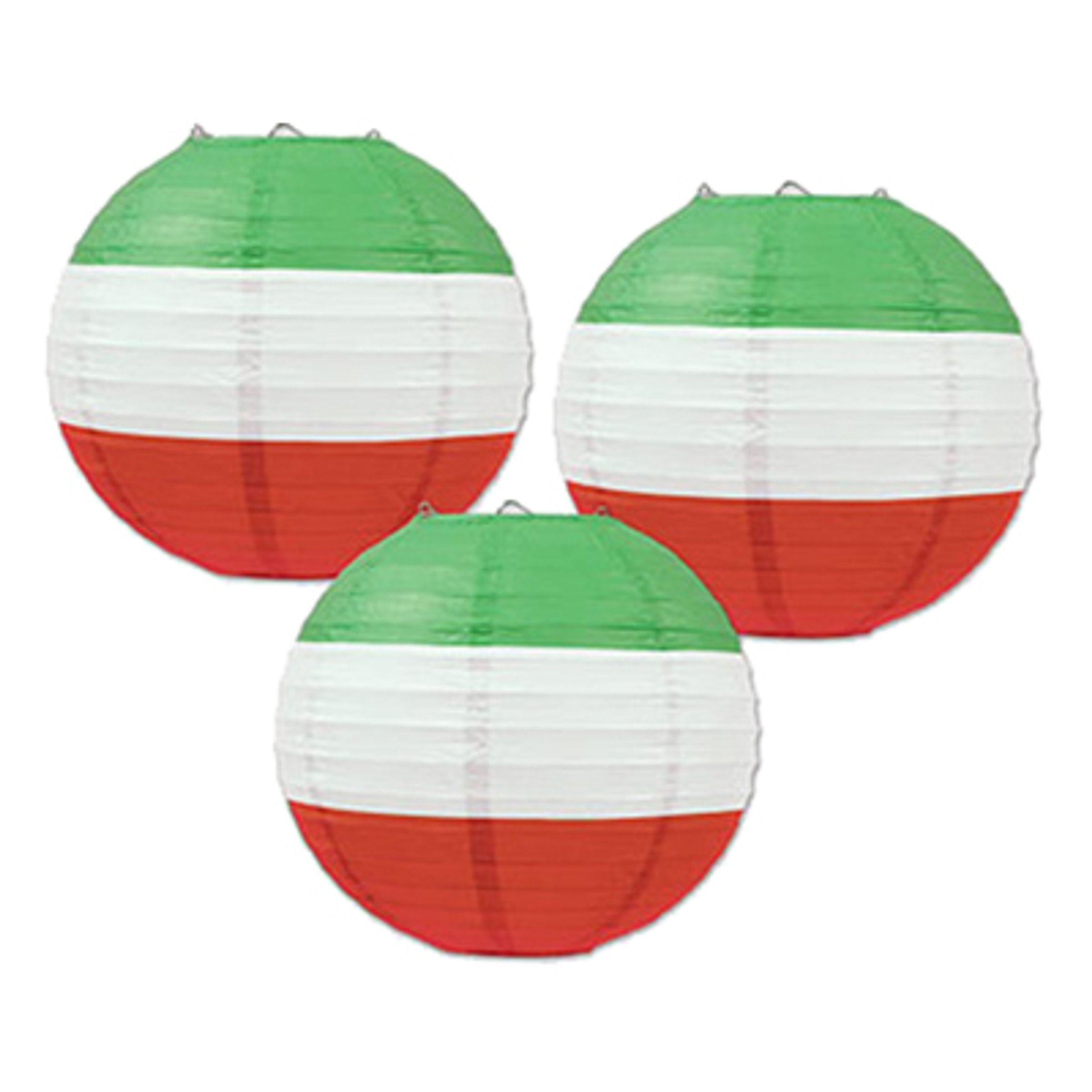 Rislampor Röd/Vit/Grön - 3-pack