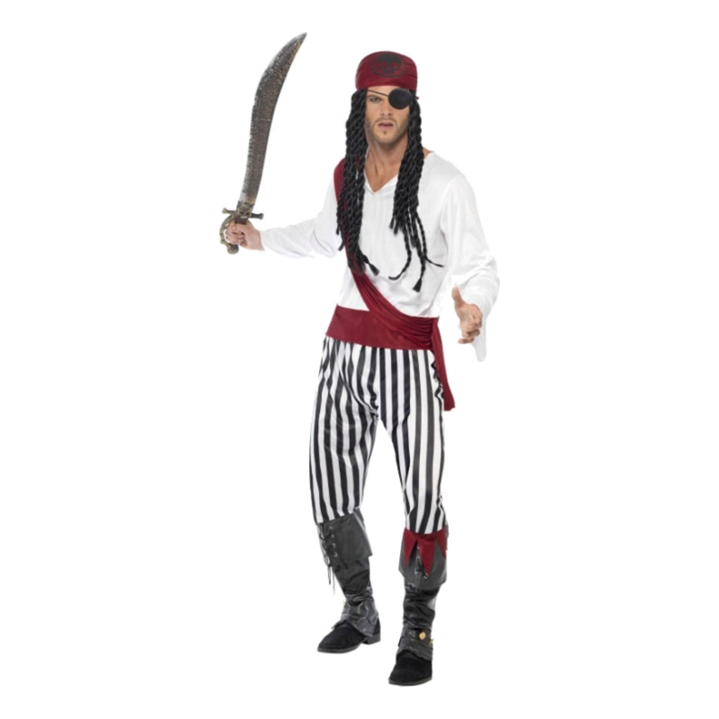 Piratman Maskeraddräkt - Large