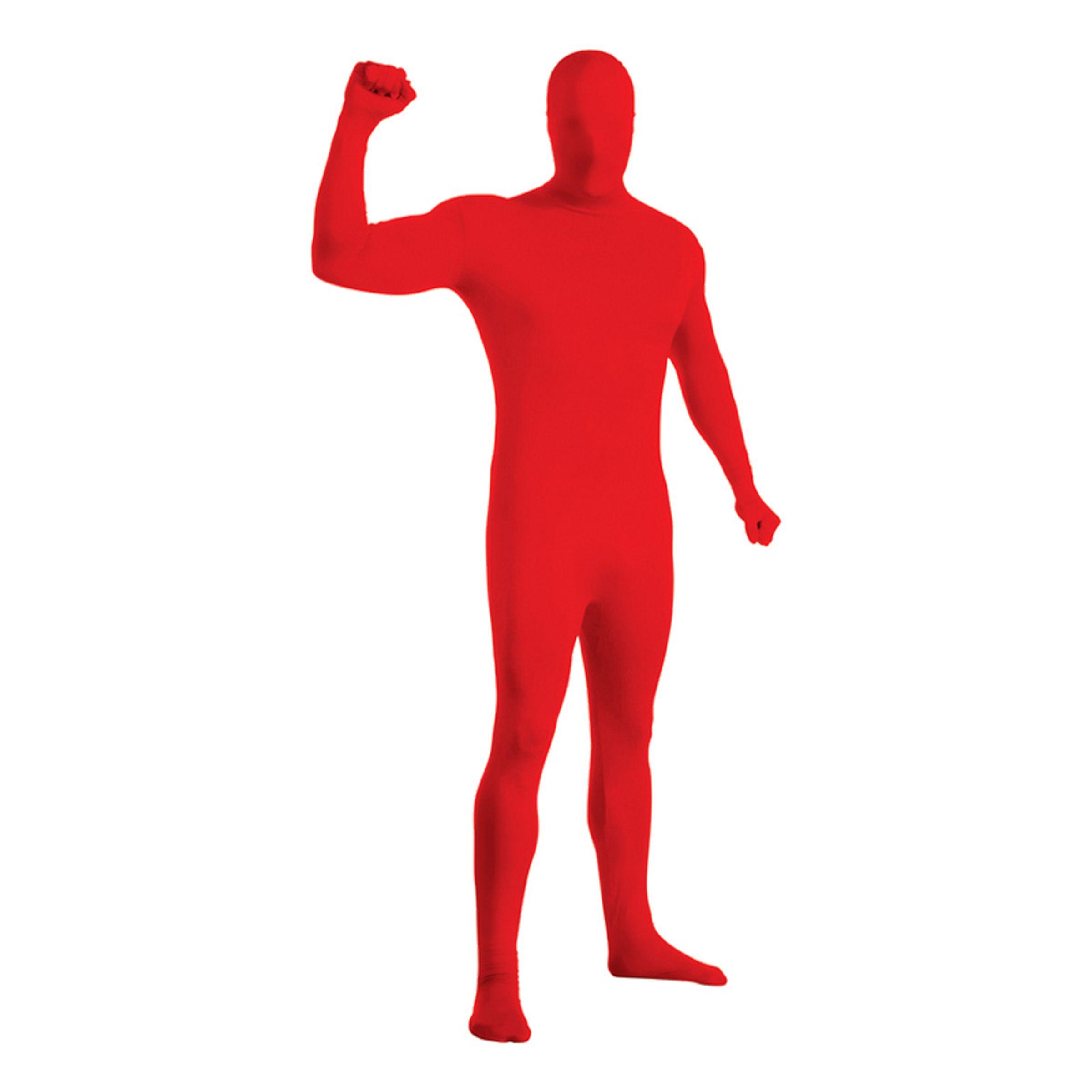 Second Skin Röd Maskeraddräkt - Medium