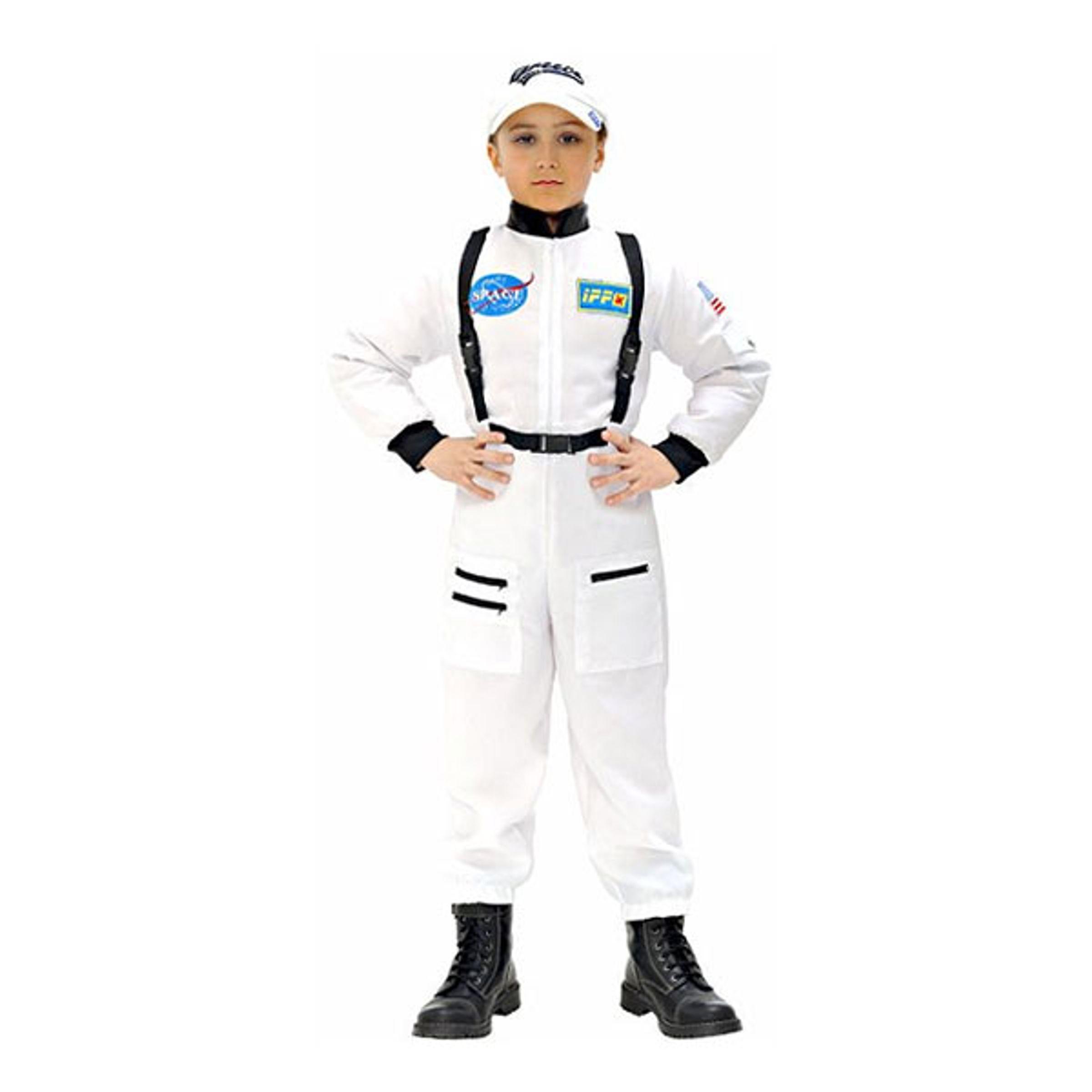 Vit Astronaut Barn Maskeraddräkt - Medium