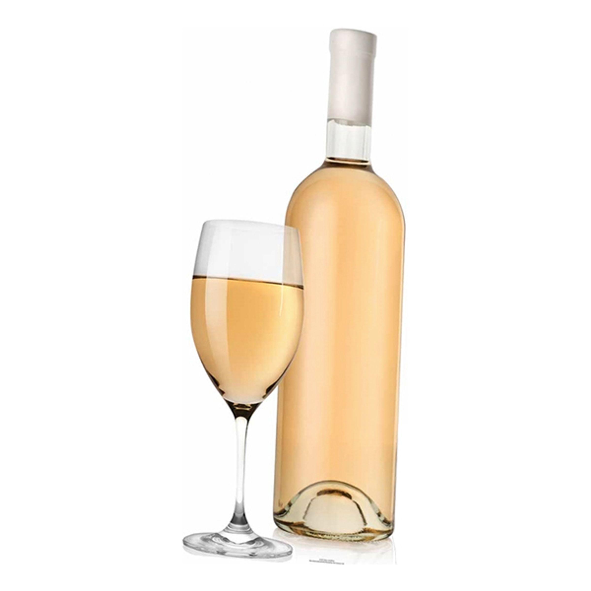 Vitt Vin med Glas Kartongfigur   Hem//Teman//Presenter//Present Till Henne   Partyoutlet