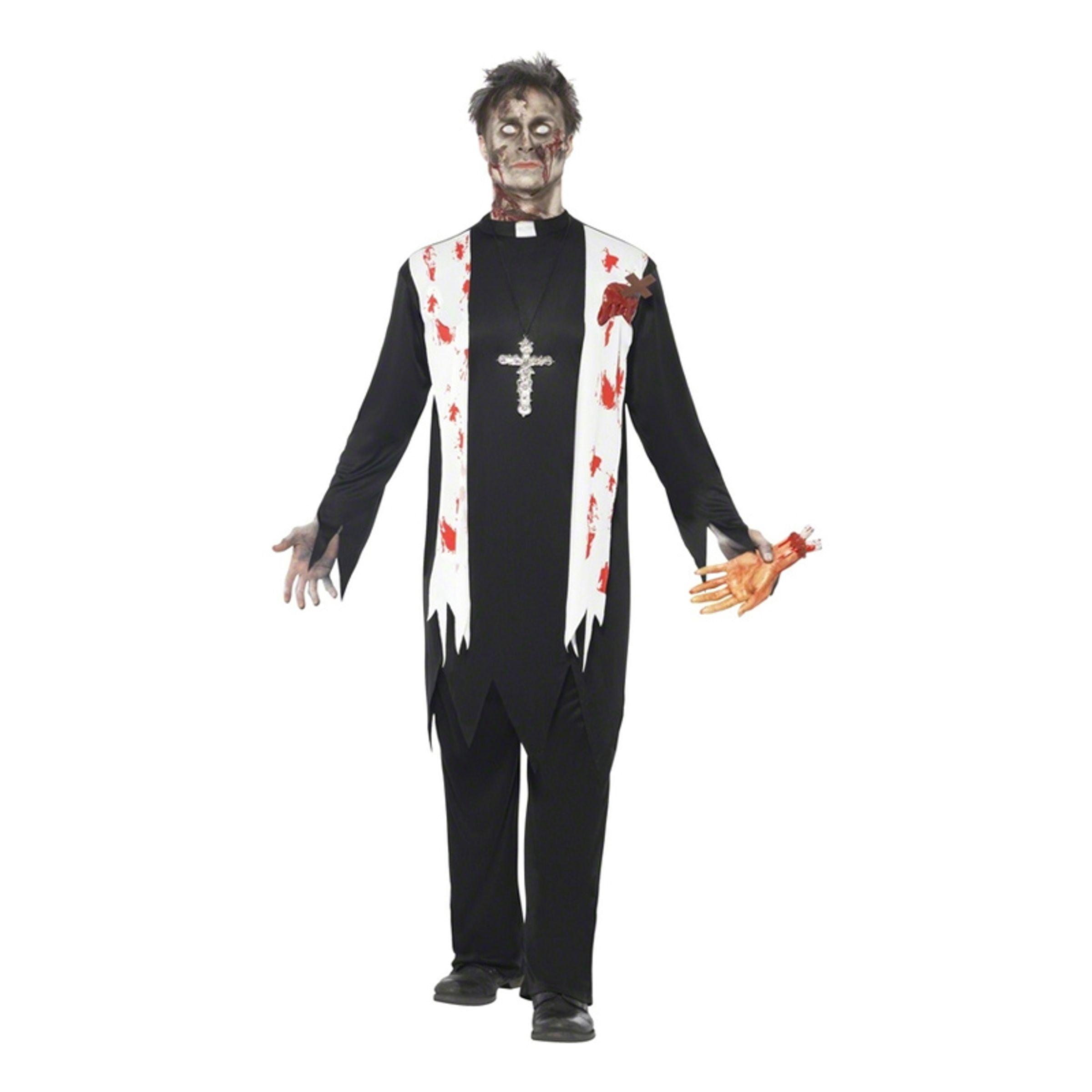Zombie Präst Maskeraddräkt - Large